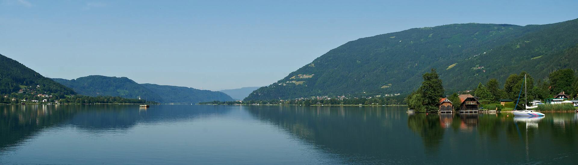 Landschaftsaufnahme vom Ossiacher See