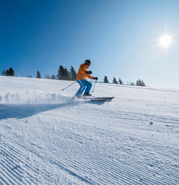 Skispass am Fuße der Gerlitzen Alpe