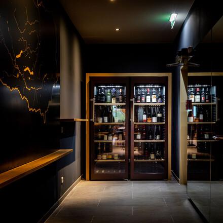 Der Weinkühlschrank im Hotel eduCARE in Treffen am Ossiacher See