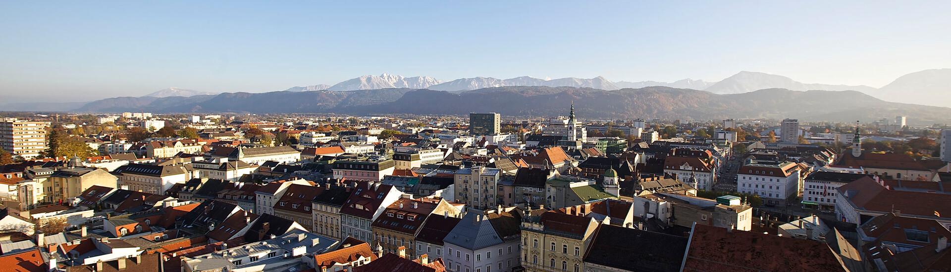 Die Stadt Klagenfurt als Ausflugsziel in Villach Umgebung