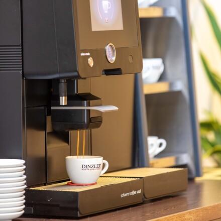 Die Kaffeemaschine im Seminarhotel bei Villach am Ossiacher See