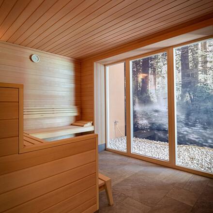 Eine der Saunen im Hotel mit Wellnessbereich am Ossiacher See
