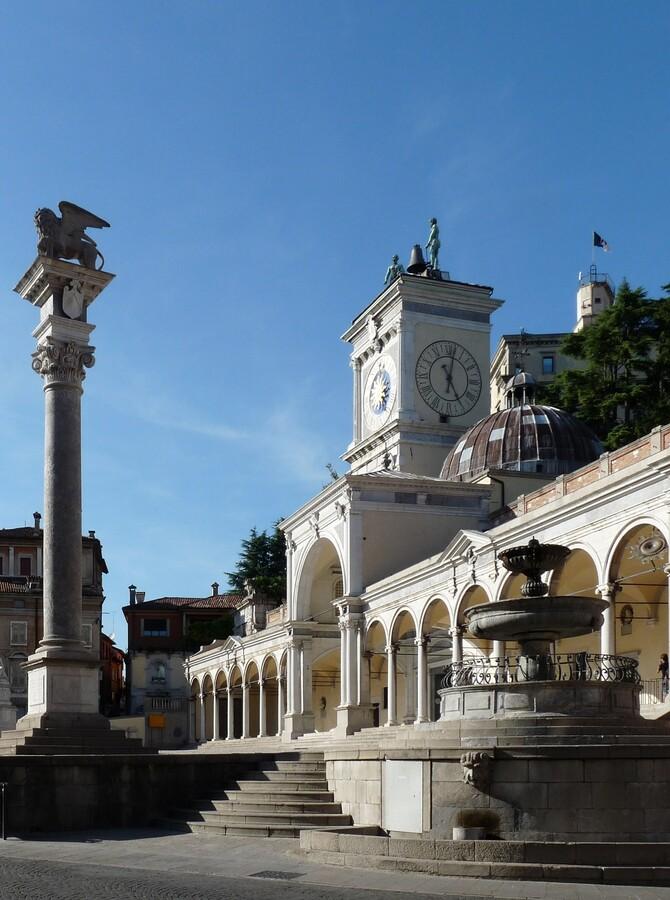 Eine historisches Gebäude in Udine