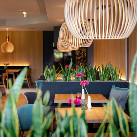 Innenansicht des Restaurants im 4-Sterne Hotel eduCARE in Treffen am Ossiacher See
