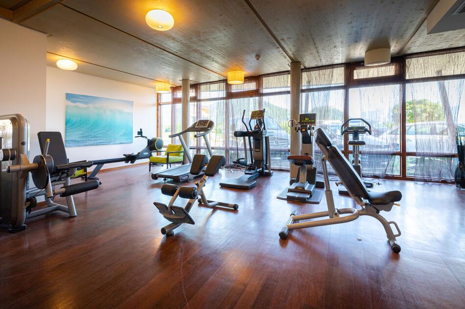 Der Fitnessbereich im Hotel mit Wellnessbereich am Ossiacher See