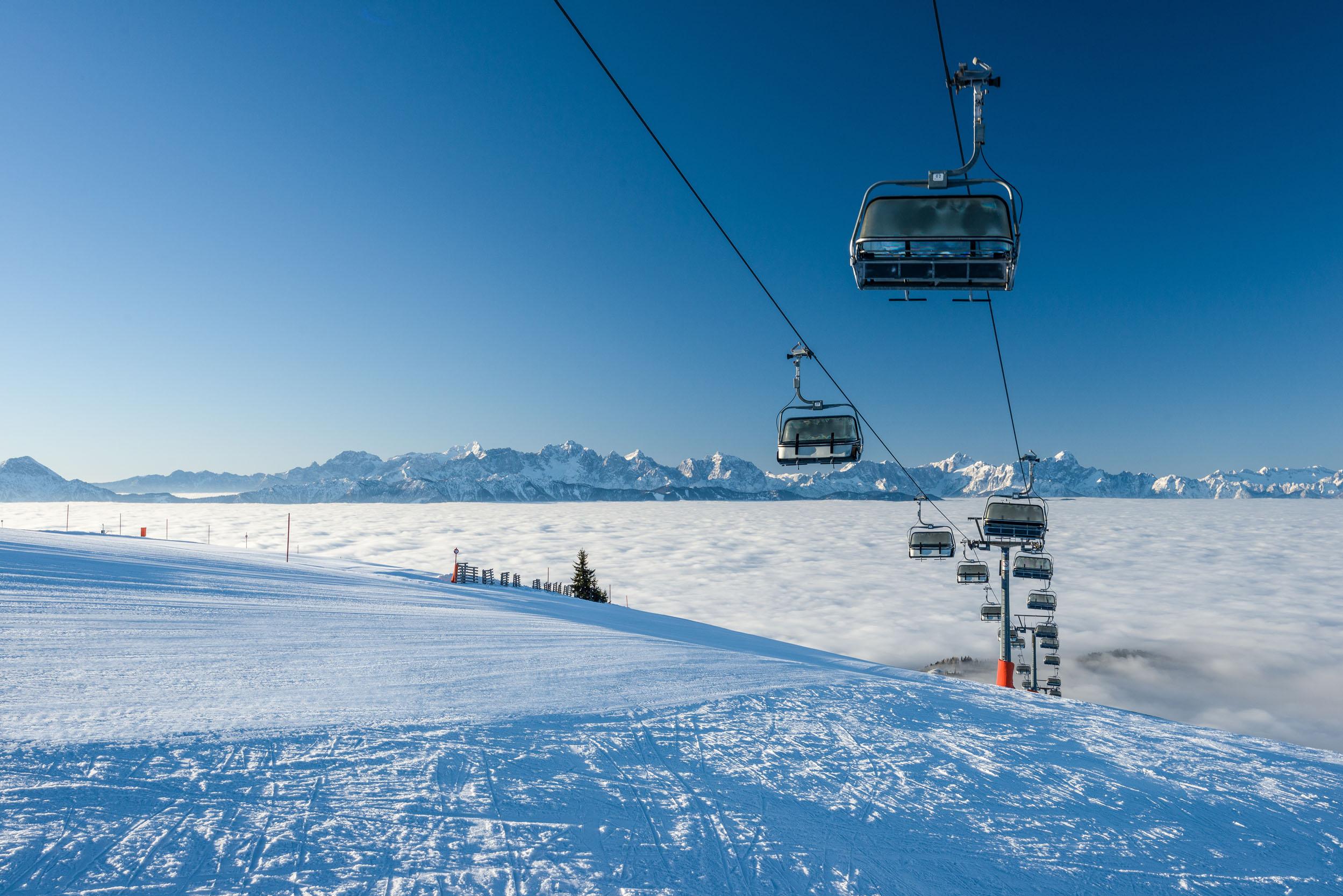 Der Sessellift beim Skiurlaub an der Gerlitzen Alpe