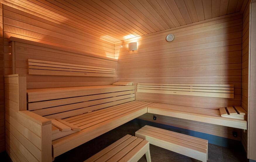 Eine der Saunen im modernen Hotel eduCARE in Treffen am Ossiacher See